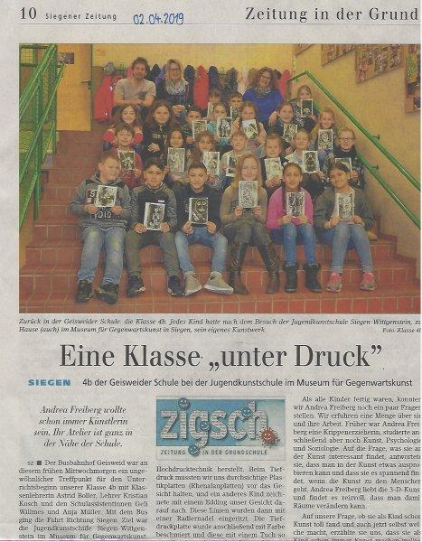 Siegener Zeitung vom 02.04.19