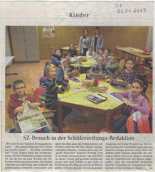 Siegener Zeitung vom 26.01.19