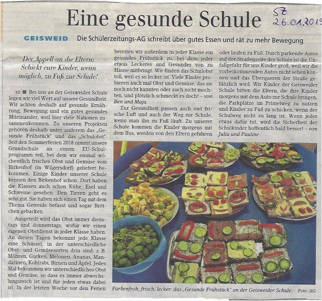 Siegener Zeitung vom 26.01.19 #2